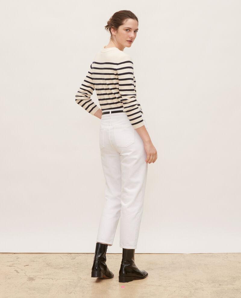 TOMBOY - Jeans amplios talle medio alto y 5 bolsillos Winter white Meroni