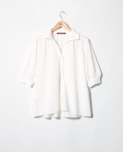 Comptoir des Cotonniers - Camisa de algodón bordado Off white - 3