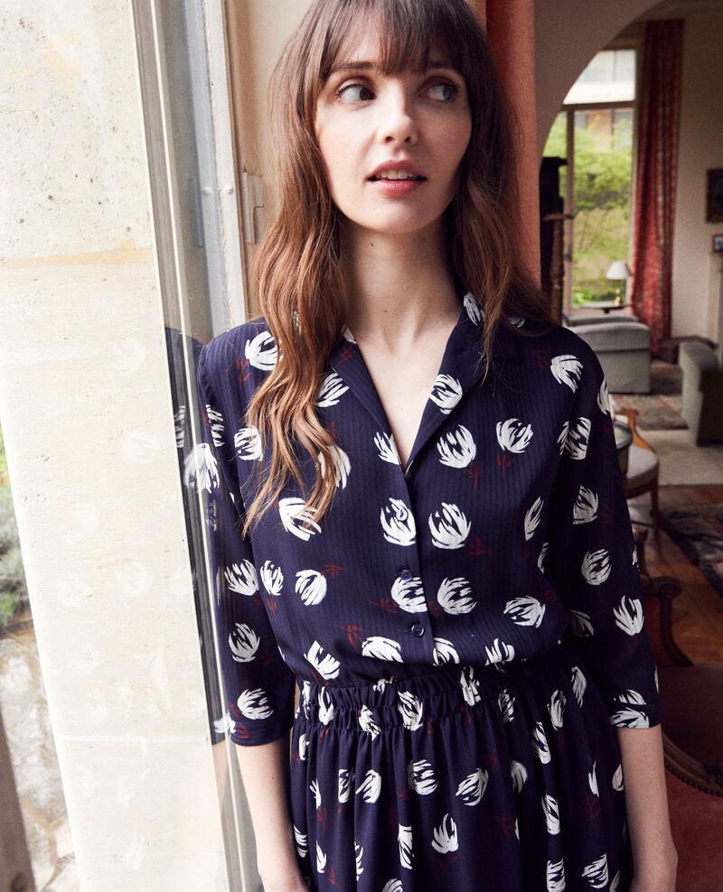 Vestido camisero estampado Tulip evening blue Jaradja