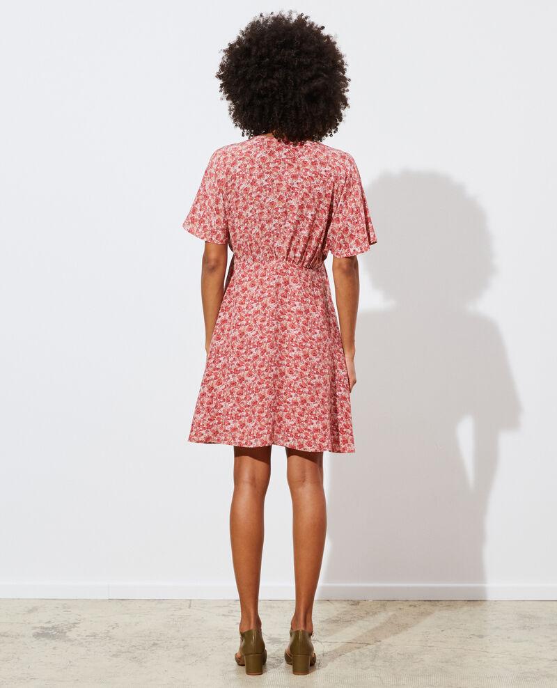 Vestido corto de seda Art deco pink Pabydoll