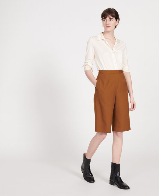 Bermudas de lana lisa MONKS ROBE