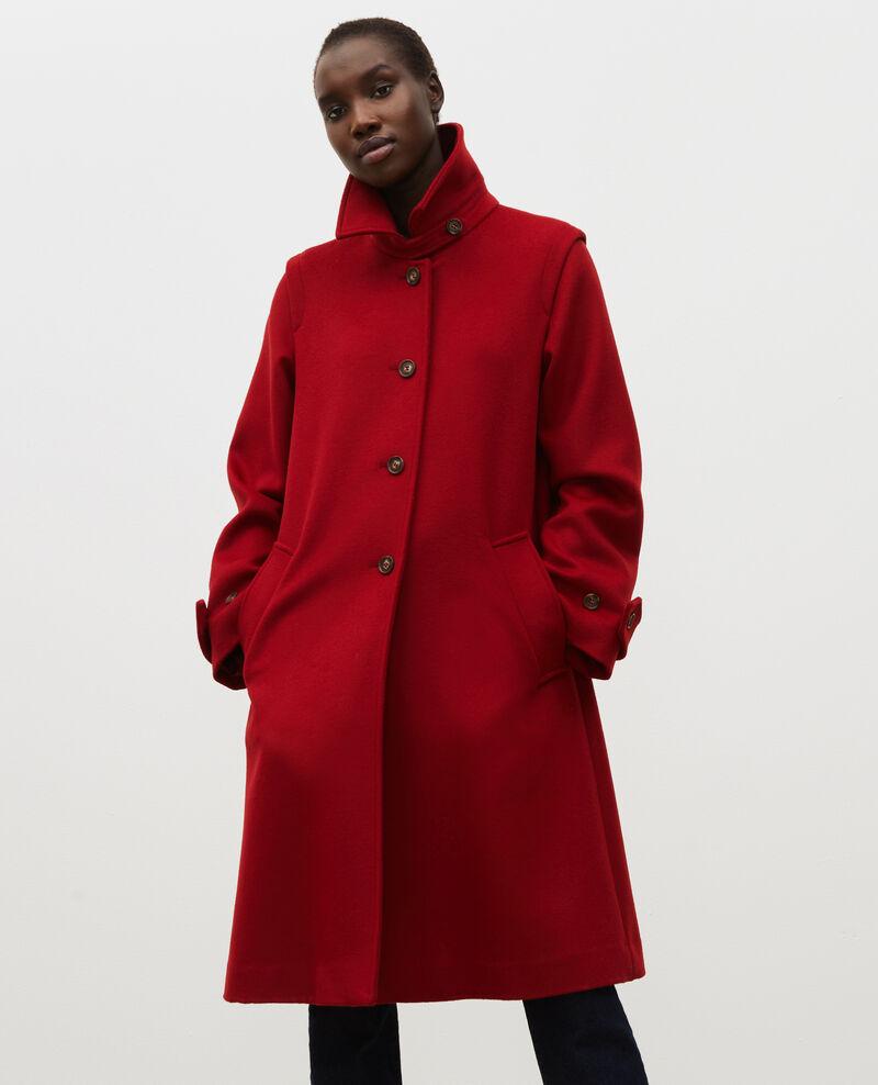 Abrigo evasé de lana y cachemir Royale red Madriat