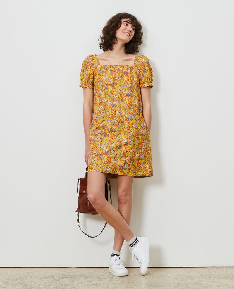 Vestido corto de algodón y seda Prairie spectra Neffa