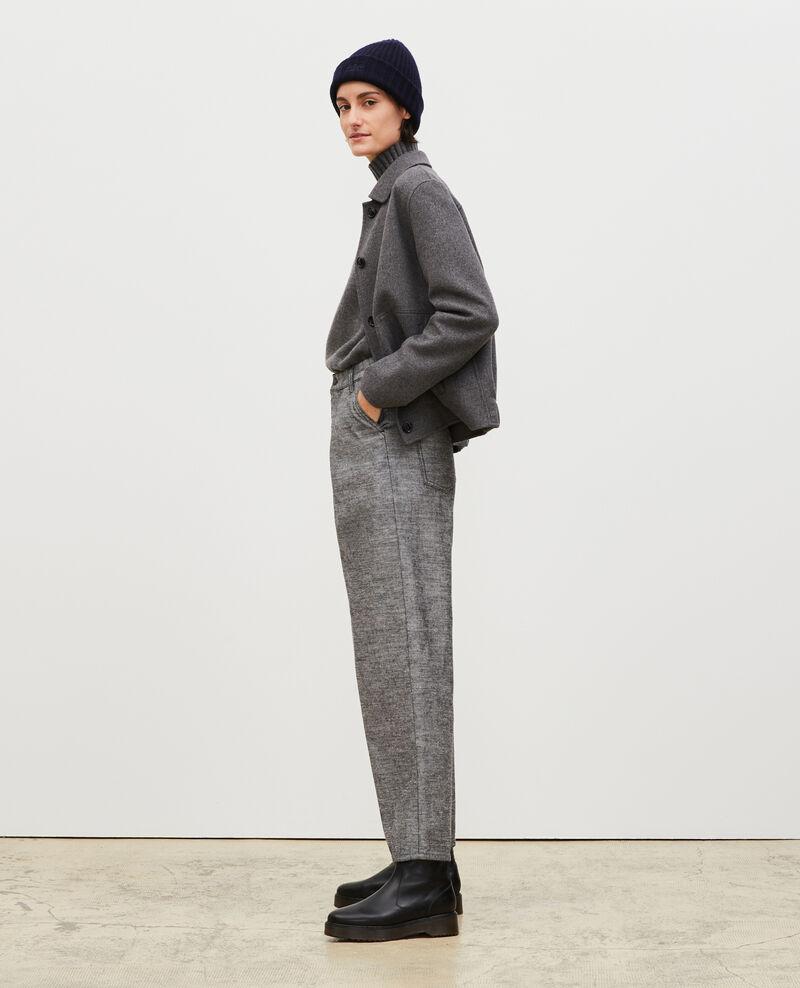PLEATED - Pantalón ancho en denim gris Grey wash Maples