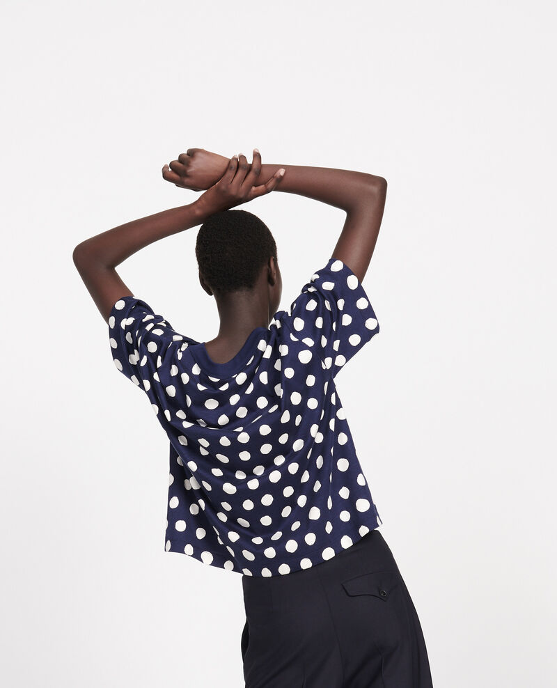 Camiseta boxy Dots maritime blue Lenoyer