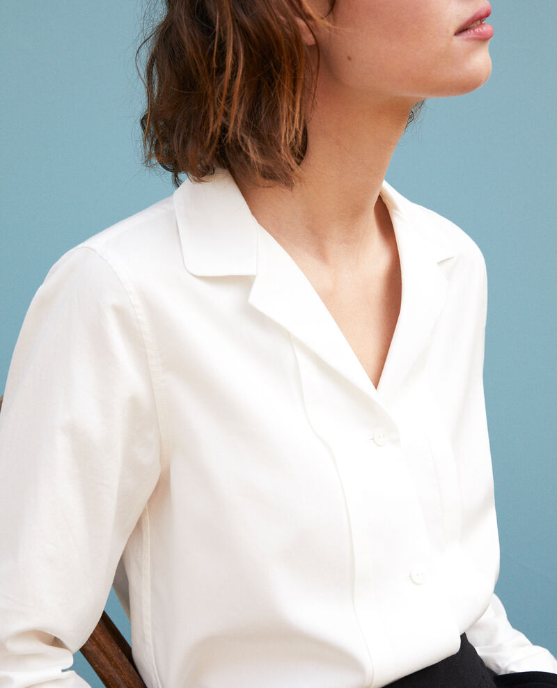Camisa cuello militar Blanco Goja