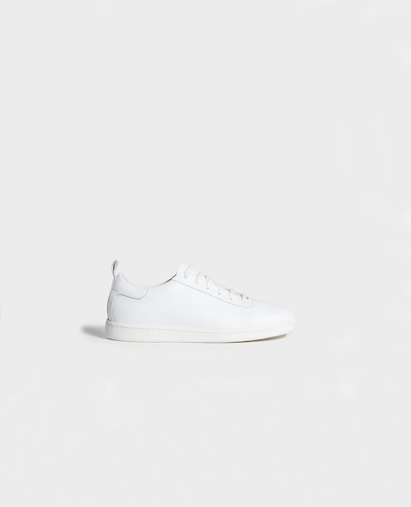 Sneakers de cuero con cordones Optical white Lead