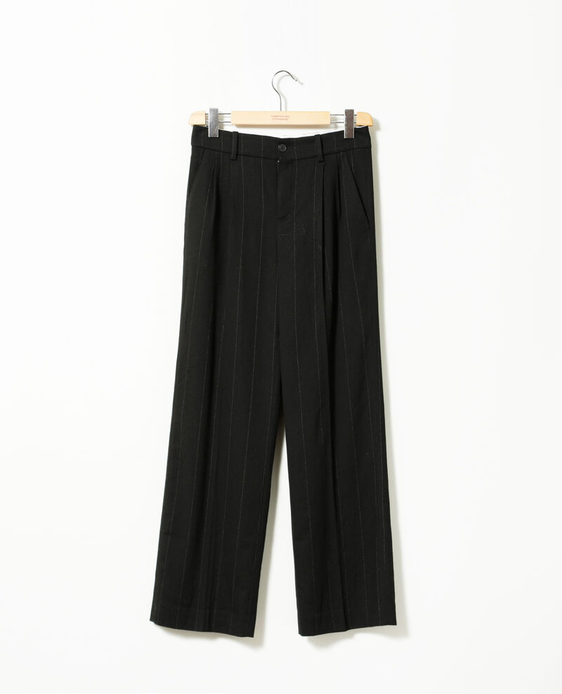 Pantalón de corte amplio Negro Gorgonie