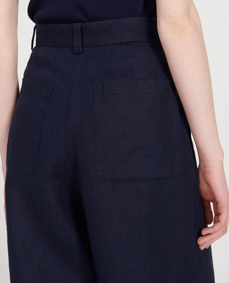 Pantalón de lino Maritime blue Lafare
