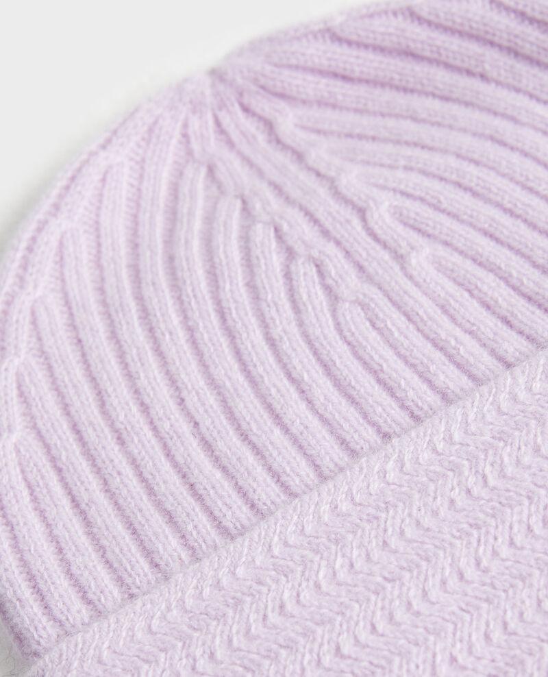 Gorro de cachemir Pastel lilac Minzac