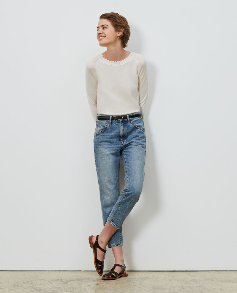 Jersey de seda y algodón Gardenia Nita