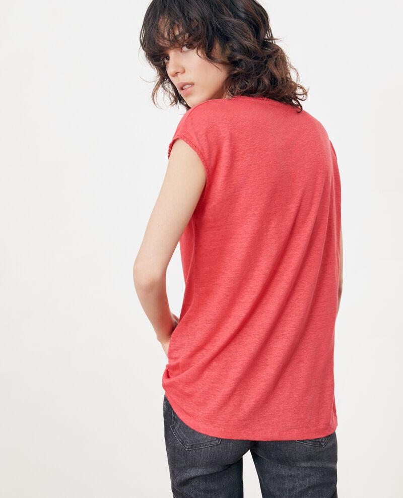 Camiseta de lino Ultra pink Fevian