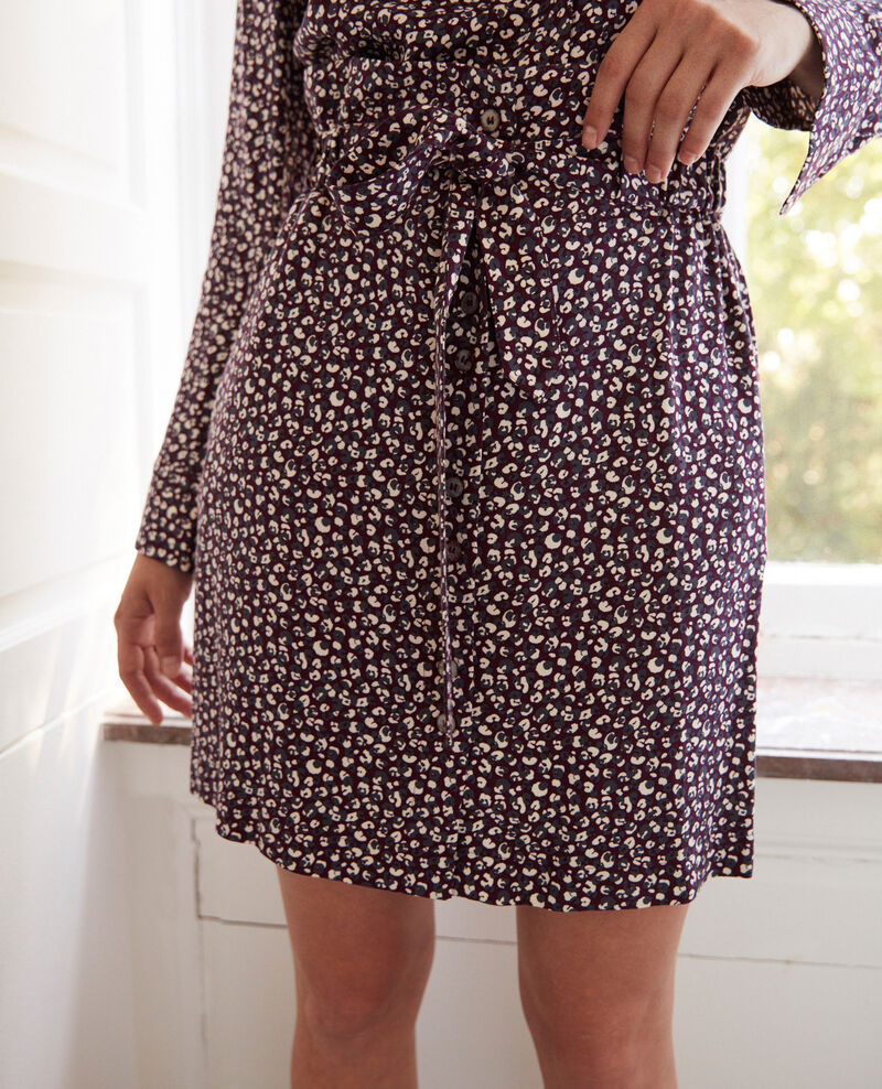 Falda estampada Leopard potent purple Jorage