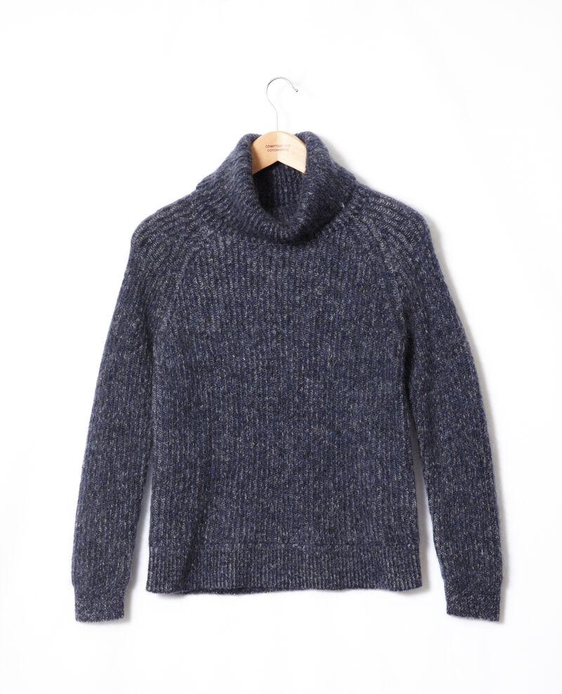 Jersey cuello vuelto con mohair Medieval blue/noir/off white Gummy