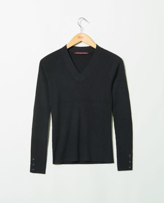 Jersey con cuello de pico NOIR