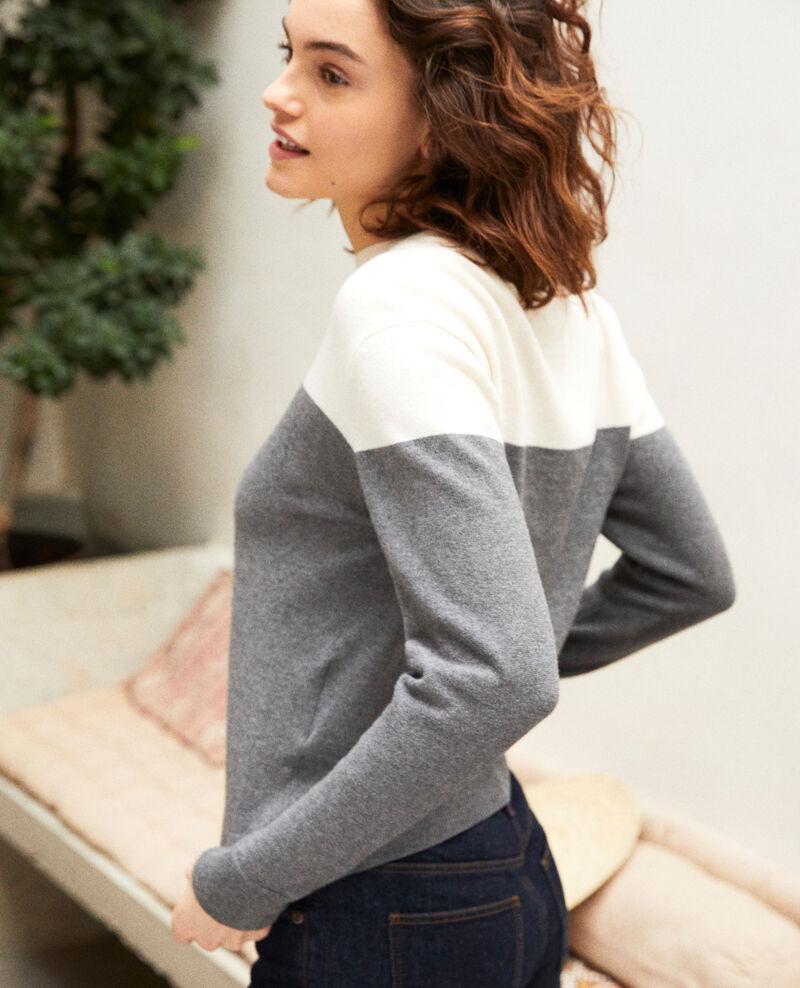 Jersey bicolor Medium heather grey Ilene