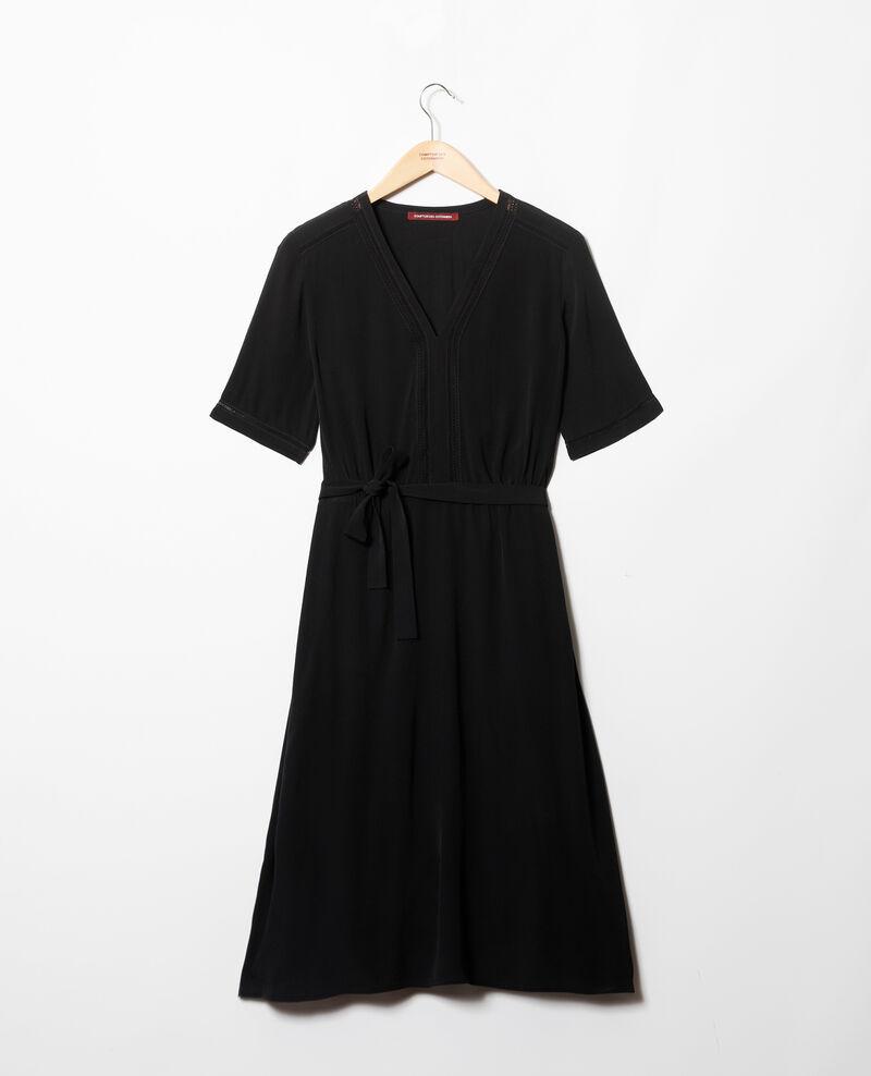 Vestido con inserciones de bordados Noir Grigue