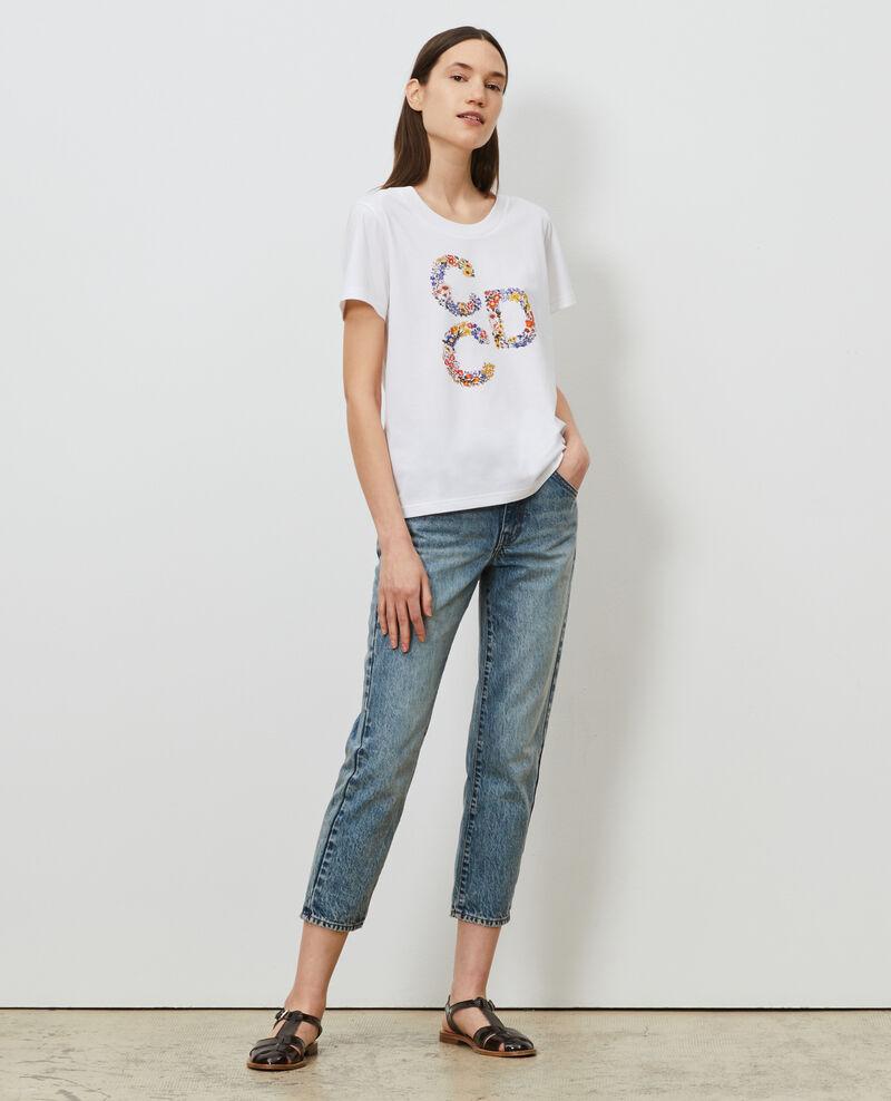 Camiseta de algodón manga corta Brilliant white Mae