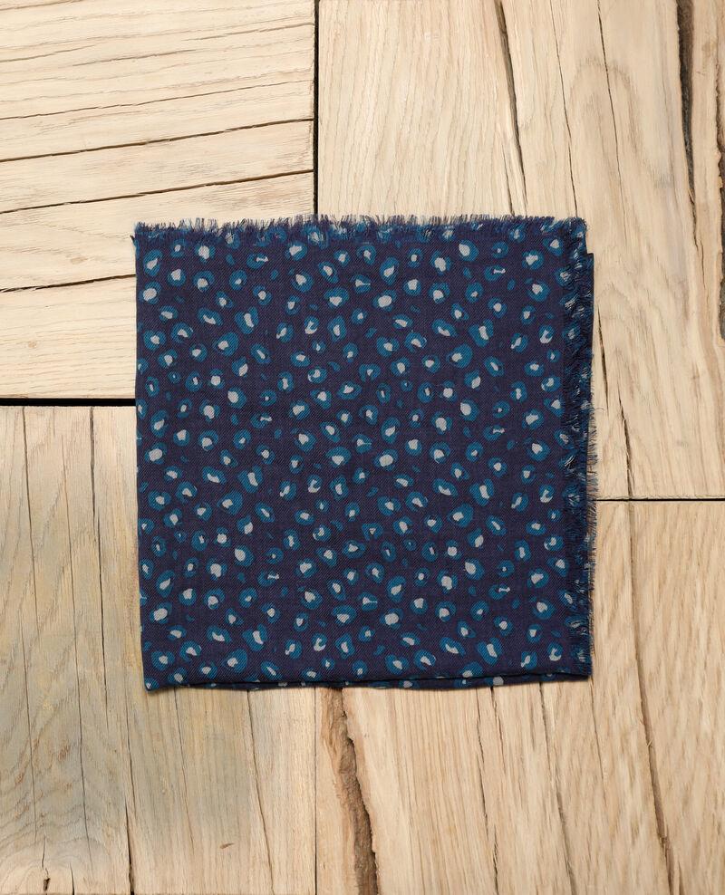 Pañuelo estampado de lana Verde Grae