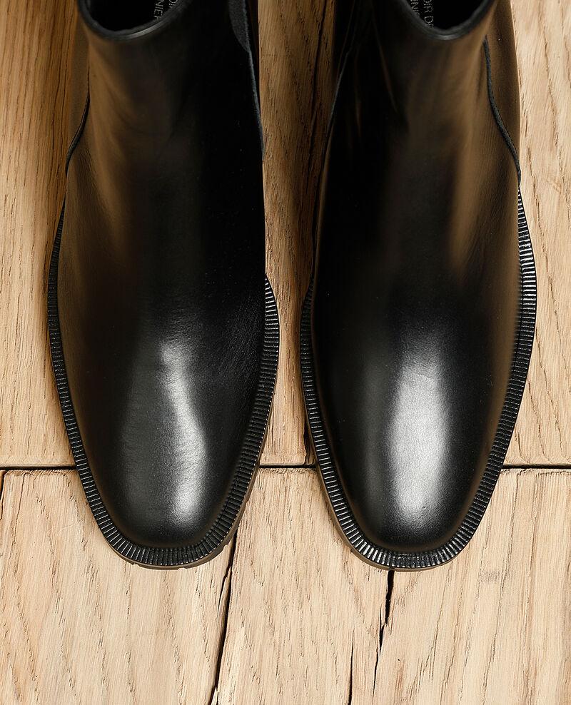 Botines de piel lisa Noir Igomma