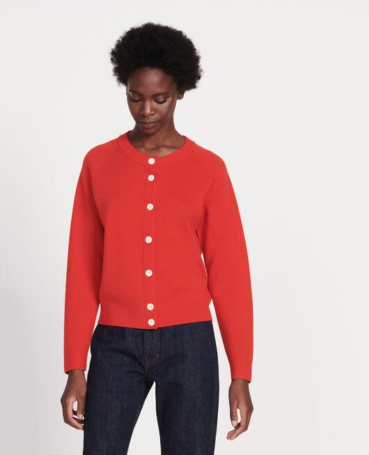 Cárdigan atemporal de lana FIERY RED