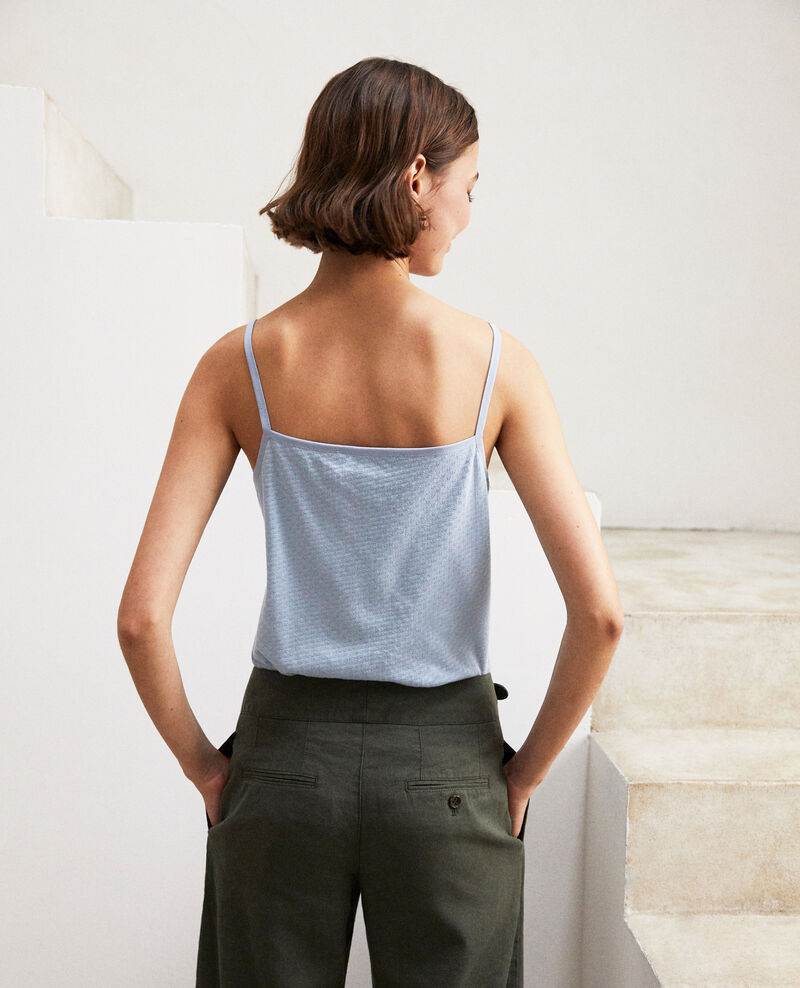 Camiseta con tirantes finos Light blue Gagnant