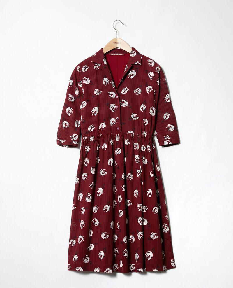 Vestido camisero estampado Tulip cabernet Jaradja