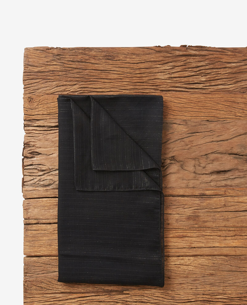 Pañuelo con rayas de lurex Noir Doffrir