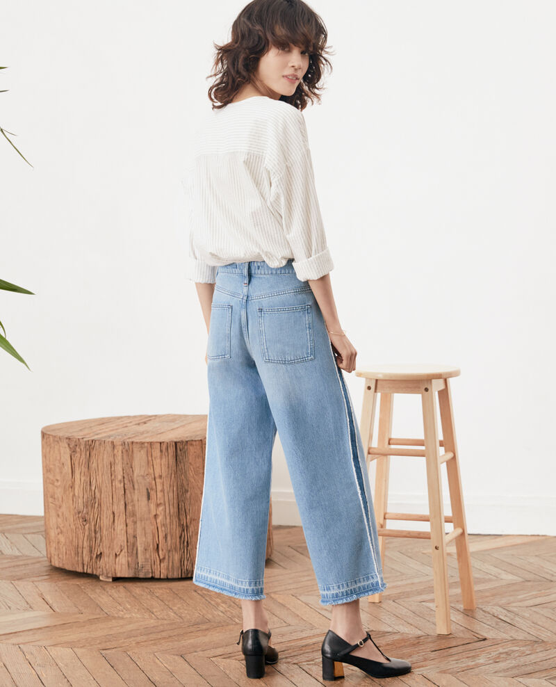 Jeans cropped Vintage wash Frotripe
