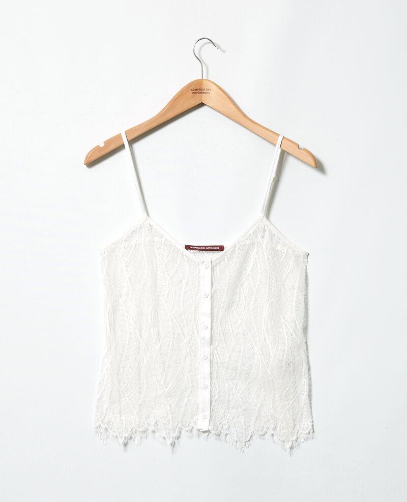 Camiseta tirantes de encaje Off white Ikouna