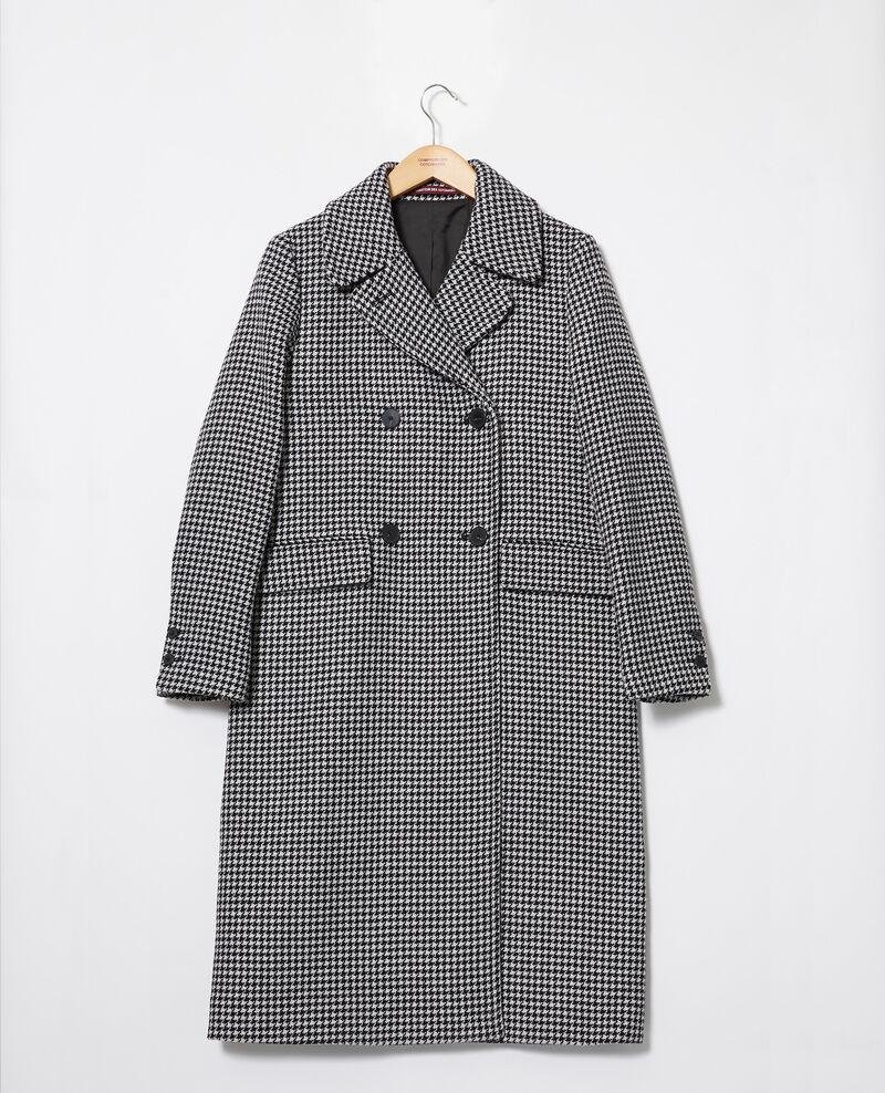 Abrigo de lana Houndtooth Janteau