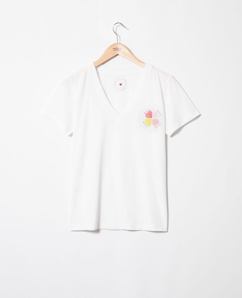Camiseta estampado de corazón en forma de trébol Off white Itrefle