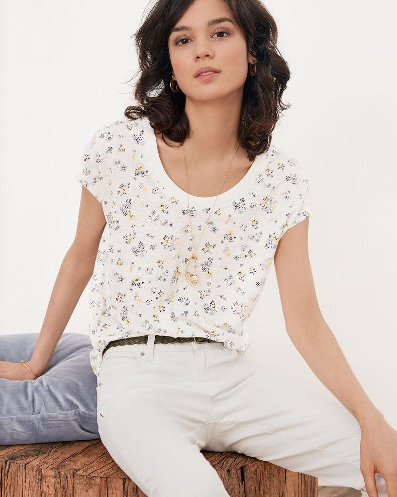 Camiseta estampada de flores Lillybell kaolin Franka