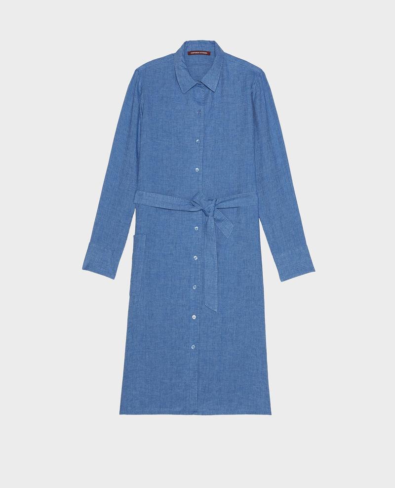 Vestido de lino Indigo Lesprit