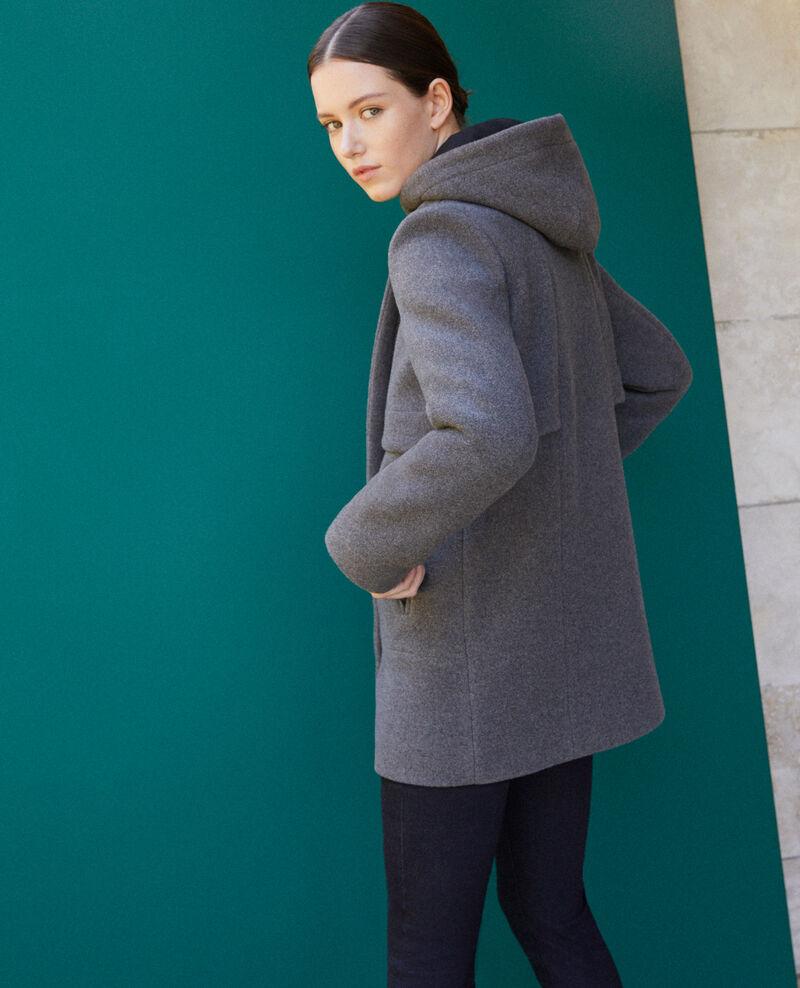 Abrigo con capucha  Gris 9balex