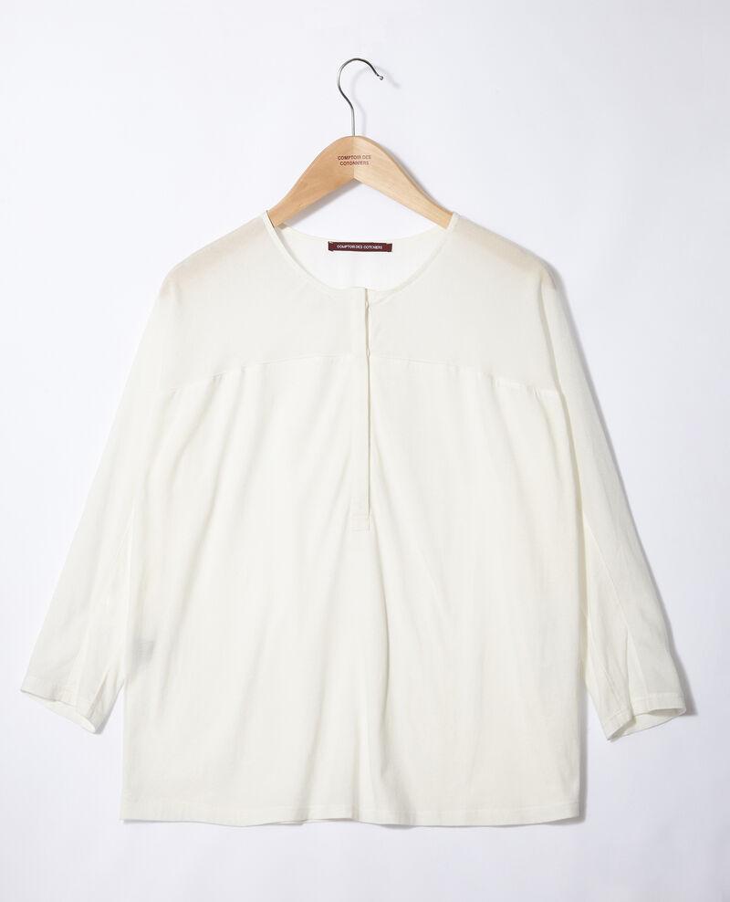 Camiseta de dos tejidos Blanco Genious