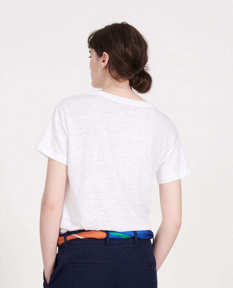 Camiseta de lino de jersey Optical white Locmelar
