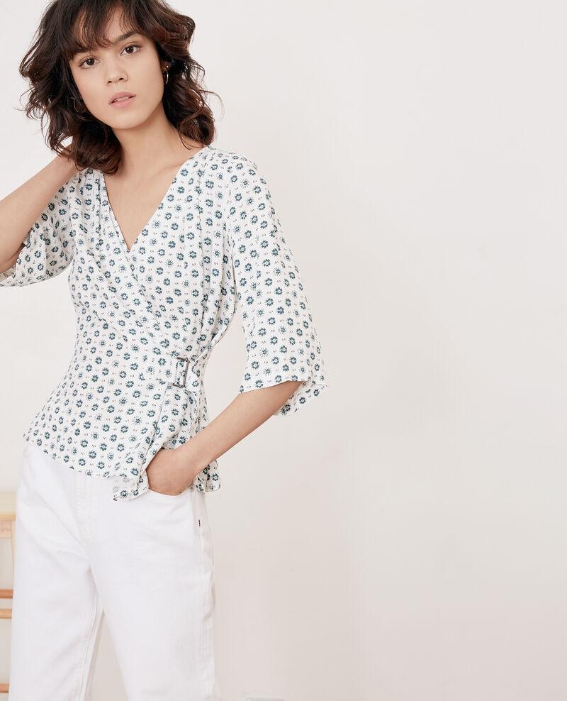 Blusa estampada con lazo Dandelion kaolin Fanelie