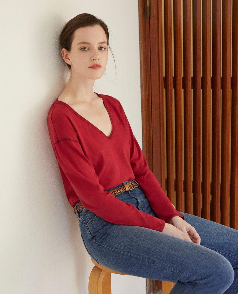 Camiseta de algodón Rio red Gonia