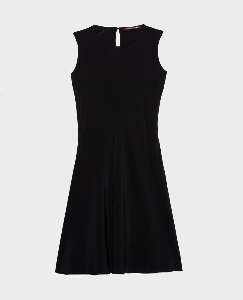 Vestido de seda sin mangas cortado al bies. Black beauty Leonide