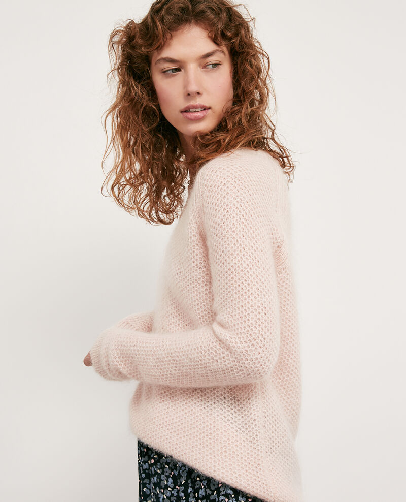 Jersey con mohair Marshmallow/off white Dahbia