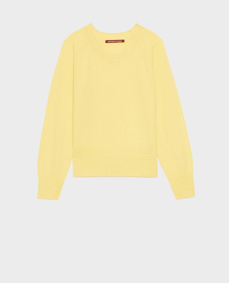 Jersey de cachemir con cuello redondo Lemon drop Nogna