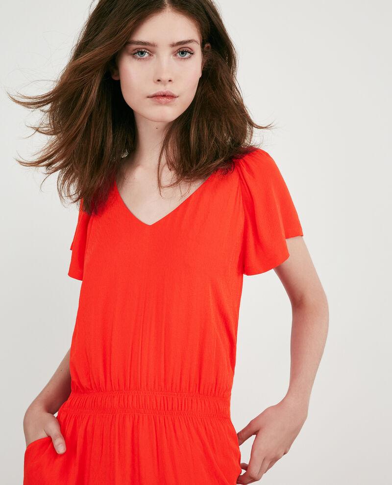 Vestido fluido Orange red Decembre