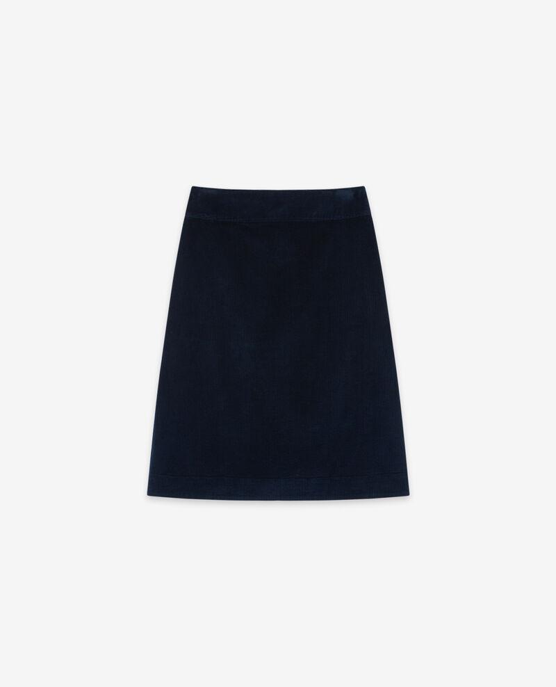 Falda de pana Navy Darcueil