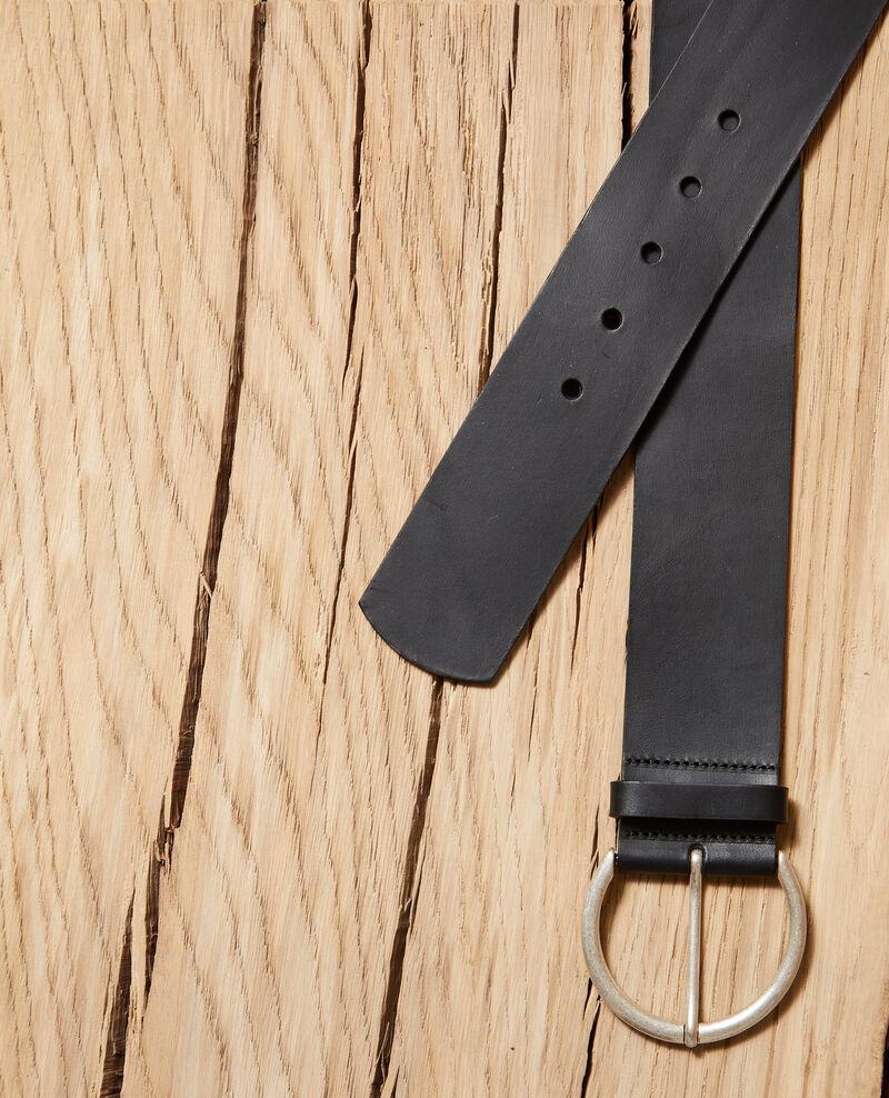 Cinturón de cuero Negro Garge