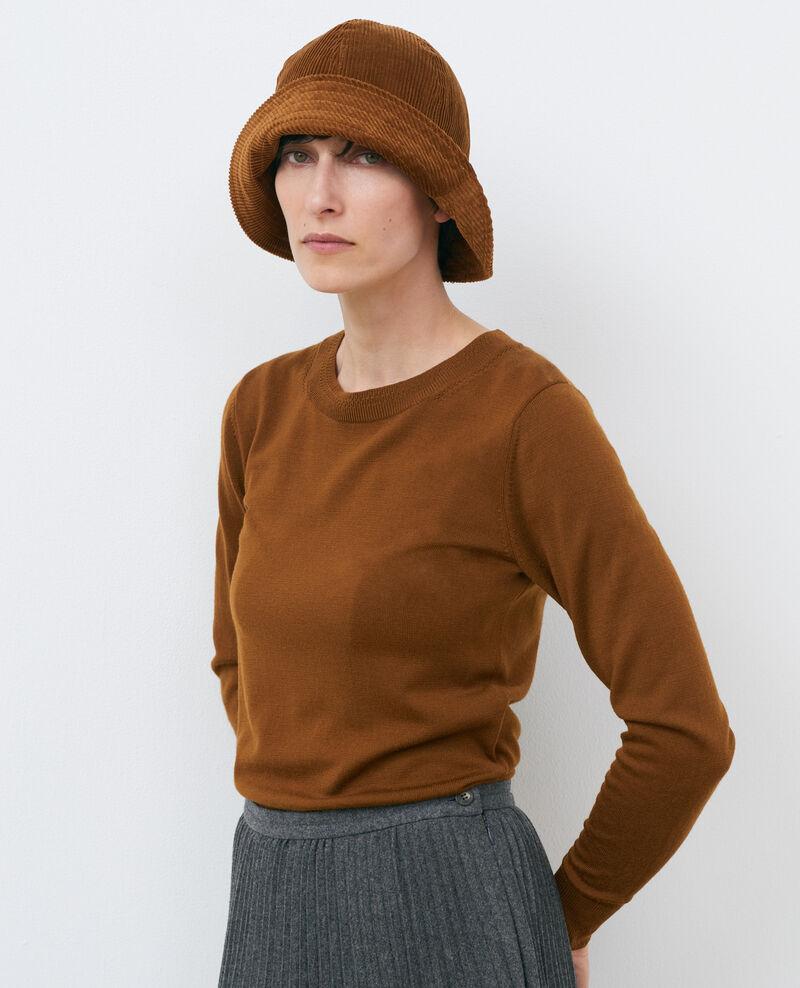 Jersey cuello redondo de lana Monks robe Passy