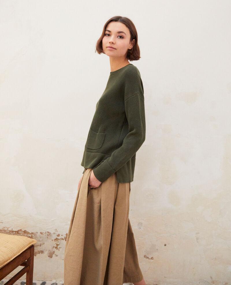 Jersey de cuello redondo Olive green Ifetou
