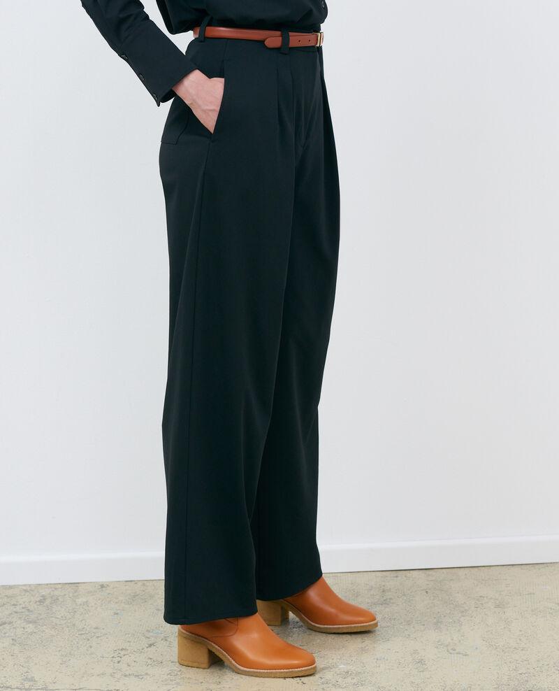 Pantalón YVONNE, ancho con pinzas Black beauty Pradus