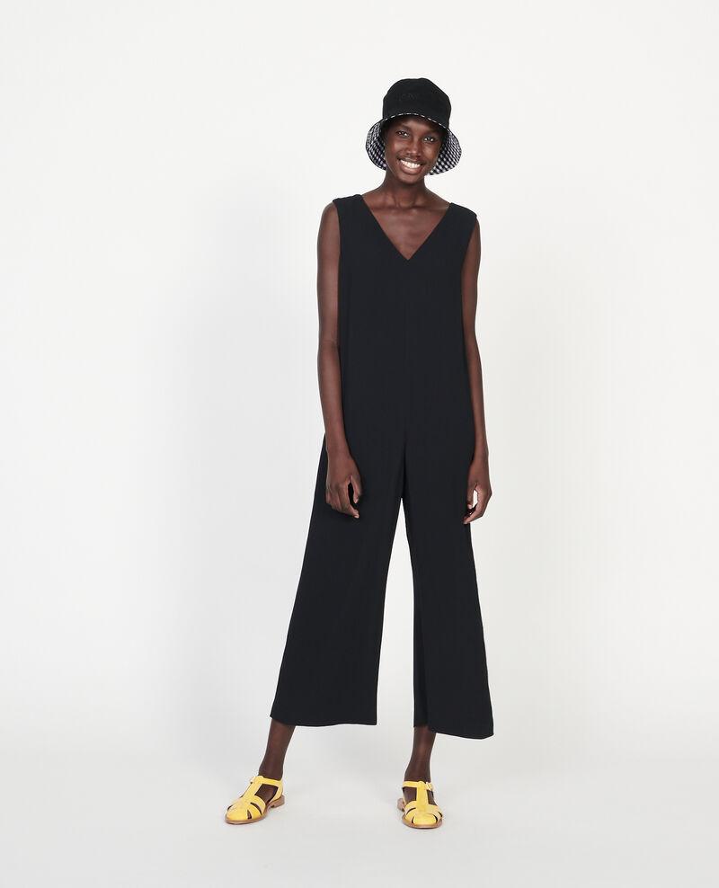 Mono pantalón de viscosa Black beauty Lintrex