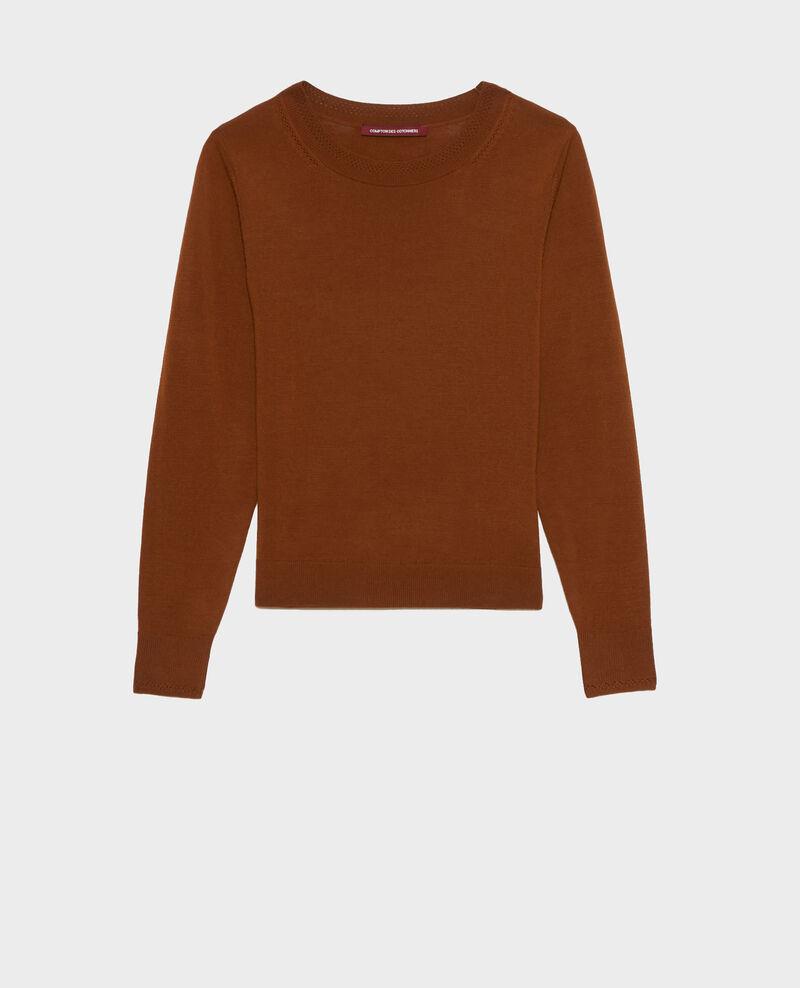 Jersey cuello redondo de lana merino Monks robe Passy
